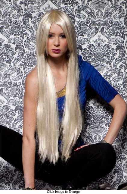 Waist Long Wig in California Blonde Color