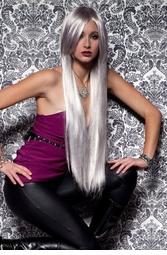 Waist Long Wig in Glam Chrome Color