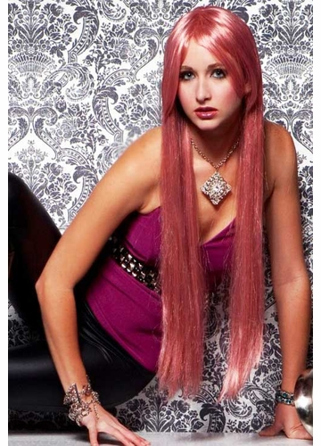 Waist Long Wig in Pink Venom Color