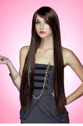Waist Long Wig in Sultry Chocolate