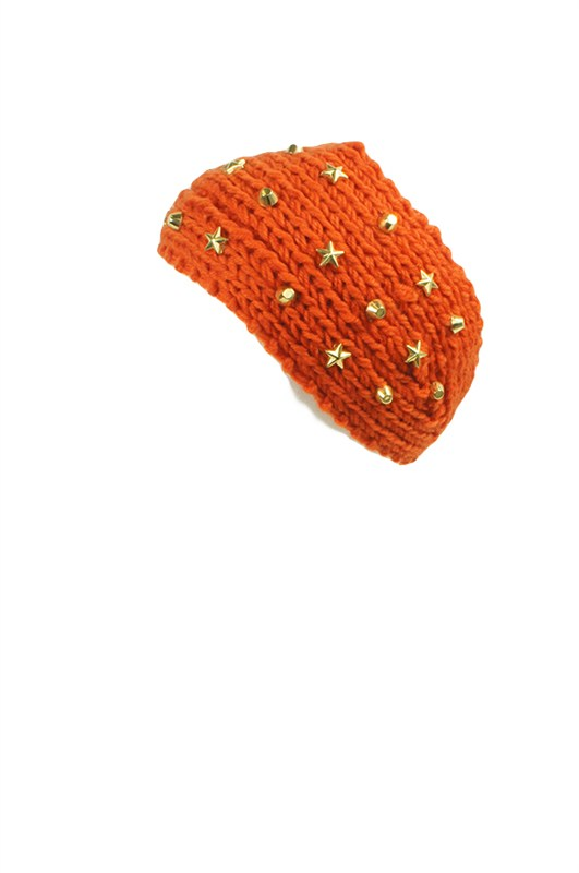 Warm Knit Headband with Studs