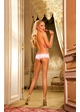 White and Light Pink Microfiber Boyshort with Lace Trim  inset 1
