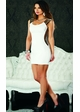 White Dress with Elastic Strap Sides inset 1