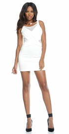 White Dress with Mesh Front