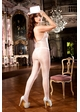 White Fishnet Bodystocking with Halter Front inset 2