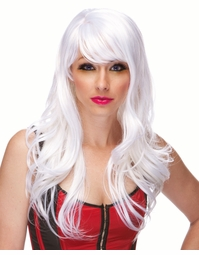 White Long Curl Wig Burlesque
