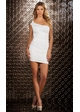 White Mini Dress with Beaded Shoulder inset 2