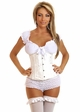 White Peasant Tie Top inset 1