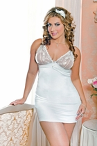 White Stretch Babydoll and G-string