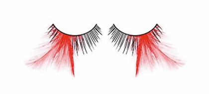 Wispy Black and Red Feather Lashes