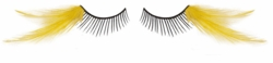 Yellow and Black Feather Lashes for $7.00