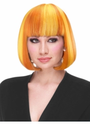 Yellow and Orange Sunset Deluxe Bob Wig in Party Shades for $19.99