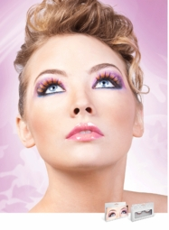 Yellow Party Lashes with Blue and Purple Whisps for $6.00