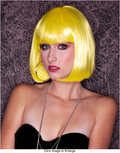 Yellow Sleek Bob Wig Cindy