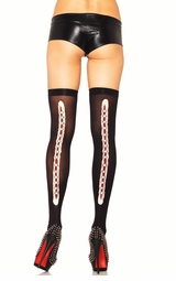 Zombie Stockings with Stitched Up Wound Backseam