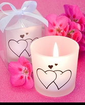 10 Wedding Heart Candles