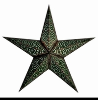 "24"" Paper Starlight Lamp - Marrakesh Green and Brown"