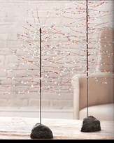 3' Multi Color Acrylic Beaded Tree with Stone Base