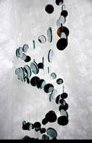 "39"" Long Real Mirror Spiral Mobile"