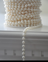 6mm Ivory Pearls Beads on a Spool