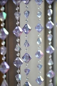 8' Lavender Gemstone Bead Curtain