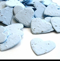 Blue Hearts Seed Paper Confetti - Plantable