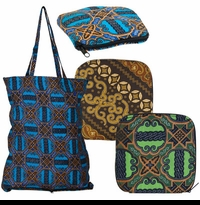 Bohemian Batik Shopping Bag
