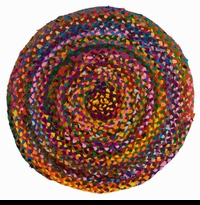 Bohemian Braided Round Throw Rug - Gypsy Decor