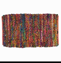Colorful Bohemian Braided Rug - Rectangle