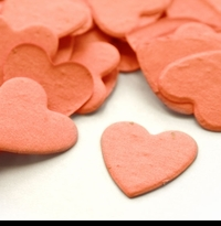 Coral Hearts Seed Paper Confetti - Turns into Wildflowers