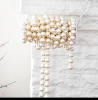 Ivory Pearl Beads By The Spool - Roll