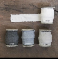 Organic Cotton Ribbon - Slate - Vanilla - Oyster or Concrete