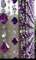 Purple Beaded Curtains