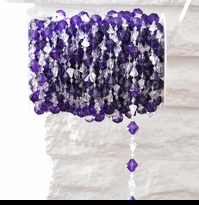 Purple Beads by the Spool - Gemstone Shapes - 14mm