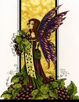 Wine Queen Fairy Print by Amy Brown