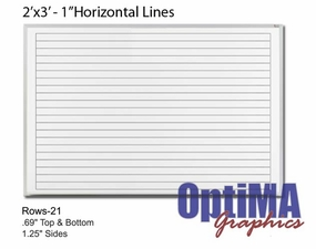2 x 3 Lined Marker Boards