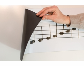 Single Staff Roll-Up Music Magnets