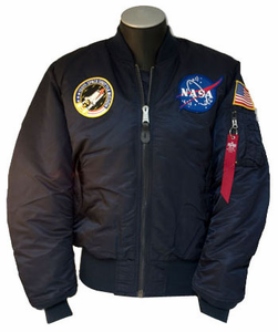 Adult Reversible 3 Patch<br> Flight Jacket Navy