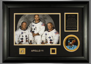 Apollo 11 Medallion, framed