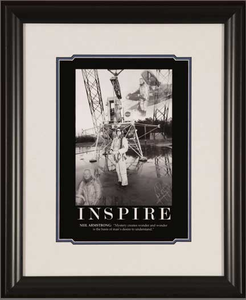 Armstrong Motivational Framed Print: INSPIRE