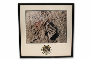 Buzz Aldrin - Footprint on the Moon - Autographed