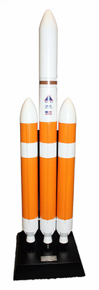 Delta IV Heavy Rocket 1/100 Scale Model