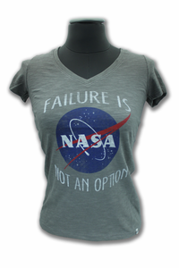 Failure Is Not An Option Womens T-Shirt - Grey