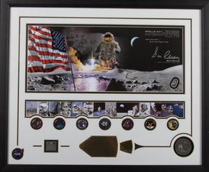 Final Footprint on the Moon Gene Cernan Signed Picture Collage - Limited Quantities