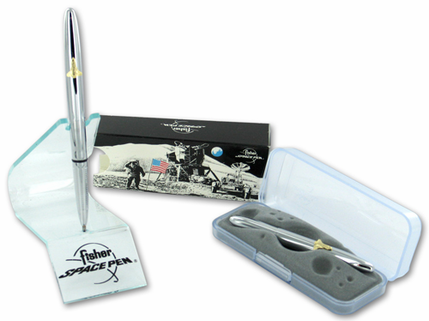 Fisher Bullet Space Pen With Shuttle - Chrome