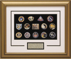 Framed Apollo Mission Pinset