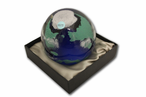 Glass Paperweight - Earth