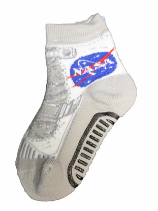 Gray Moon Boot Socks - Child