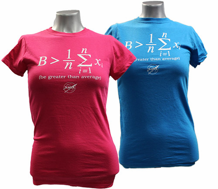 Junior T-Shirt  Be Greater Than Average Raspberry or Turquoise
