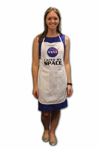 I Need My Space Apron - White